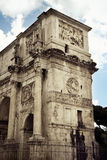 The Arch of Constantine near Colosseum, Rome. Close-up the Arch of Constantine, a triumphal arch situated between the Colosseum and the Palatine Hill, Rome Stock Photography