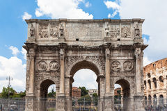 Arch of Constantine near colosseum. In Rome, Italy Royalty Free Stock Image