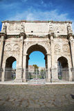The Arch of Constantine near the Colosseum in Rome. The Arch of Constantine near the Colosseum in Rome, Italy Royalty Free Stock Photography