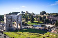 Arch of Constantine near colosseum in Rome Stock Photography