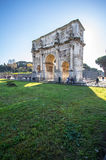 Arch of Constantine near colosseum in Rome Royalty Free Stock Photo