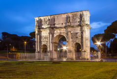 Arch of Constantine near colosseum in Rome. Arch of Constantine near colosseum, Rome, Italy Royalty Free Stock Photos