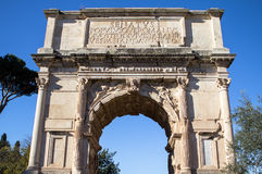 Arch of Constantine near colosseum in Rome Stock Photo