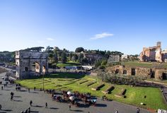 Arch of Constantine near colosseum in Rome. Arch of Constantine near colosseum, Rome, Italy Royalty Free Stock Photography