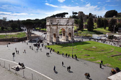 Arch of Constantine near the Colosseum in Rome, Italy Stock Photography