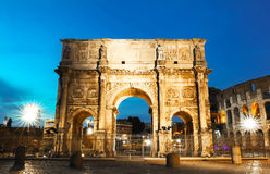 The Arch of Constantine near the colosseum in Rome, Italy Stock Photography