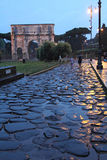The arch of Constantine at the origin of the Appian Way in Rome, Royalty Free Stock Images