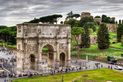 Arch of Constantine and Palatine hill, Rome Royalty Free Stock Photography