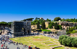 The Arch of Constantine is repairing Royalty Free Stock Images