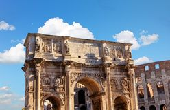 Arch of Constantine. In Rome Royalty Free Stock Photography