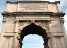 Arch of Constantine, Rome. Famous Arch of Constantine, Rome, Italy Stock Photo