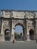 Arch of Constantine in Rome. Near the Roman Coliseum Stock Photography