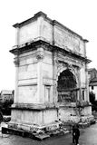 The arch of Constantine. Rome. The arch of Constantine, near to Coliseum. Monochrome photography Royalty Free Stock Image