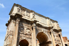 Arch of Constantine, Rome. Rome, Italy. Famous triumphal arch - Arch of Constantine Stock Photos