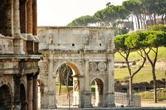 Arch of Constantine in Rome Royalty Free Stock Photo