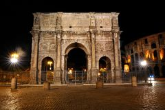 Arch of Constantine in Rome Stock Photo