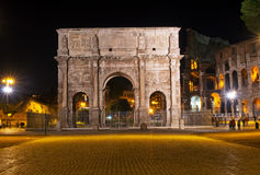 The Arch of Constantine in Rome. View of the Arch of Constantine in Roma. Italy Stock Photography