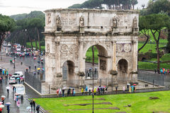 Arch of Constantine. In Rome Royalty Free Stock Images