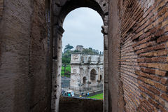 Arch of Constantine. In Rome Royalty Free Stock Photo