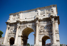 Arch of Constantine in Rome. The Arch of Constantine in Rome next to the Colosseum. Religiously significant because it commemorates the battle that led the Royalty Free Stock Photography