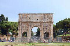 Arch of Constantine. Rome Stock Image