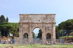 Arch of Constantine. Rome. Arch of Constantine (Arco Constantino) - Roman ancient landmark in Rome, Italy Stock Image
