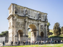 Arch of Constantine. In Rome Royalty Free Stock Image