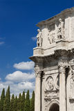 Arch of Constantine in Rome. Ancient Arch of Constantine in Rome with blue sky and copy space Stock Image