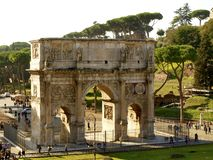 Arch of Constantine in Rome. Italy Stock Images