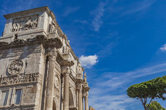 Arch of Constantine in Rome. Detail of Arch of Constantine in Rome, Italy Stock Photo