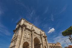 Arch of Constantine in Rome. Detail of Arch of Constantine in Rome, Italy Stock Photography