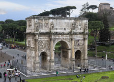 Arch of Constantine, Rome. The Arch of Constantine Italian: Arco di Costantino is a triumphal arch in Rome, situated between the Colosseum and the Palatine Hill Stock Photos