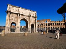 Rome. The Arch of Constantine in Rome, Italy Royalty Free Stock Photo