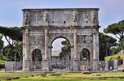 Arch of Constantine. In Rome, Italy Stock Photography
