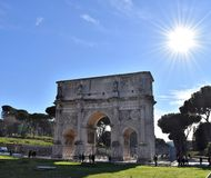 The Arch of Constantine. In Rome, Italy Royalty Free Stock Photography