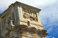 Arch of Constantine in Rome, Italy. Arch of Constantine against cloudy sky in Rome, Italy Royalty Free Stock Photo