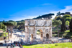 The Arch of Constantine, Rome Italy. Stock Image