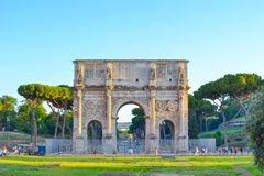 Arch of Constantine in Rome, Italy. Arco di Costantino. Antique monument Stock Image