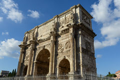 Arch of Constantine, Rome, Italy. Built to commemorate the emperor's victory over his rival Maxentius in AD 312 Royalty Free Stock Image