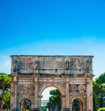 Arch of Constantine, Rome. Italy. Built to commemorate the emperor's victory over his rival Maxentius in AD 312 Royalty Free Stock Photography