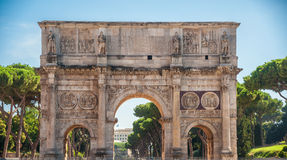 Arch of Constantine, Rome. Italy. Built to commemorate the emperor's victory over his rival Maxentius in AD 312 Royalty Free Stock Photo