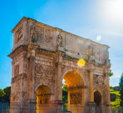 Arch of Constantine, Rome. Italy. Built to commemorate the emperor's victory over his rival Maxentius in AD 312 Stock Image