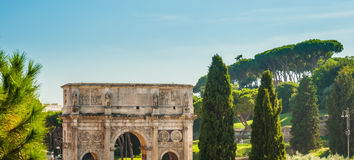 Arch of Constantine, Rome. Italy. Built to commemorate the emperor's victory over his rival Maxentius in AD 312 Royalty Free Stock Image
