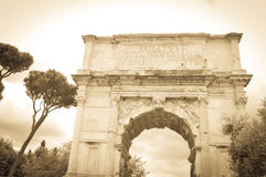 Arch of Constantine in Rome, Italy. Detail of the Arch of Constantine in Rome, Italy Royalty Free Stock Photography