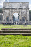 Arch of Constantine (Rome - Italy - Europe) lights risers Royalty Free Stock Photo