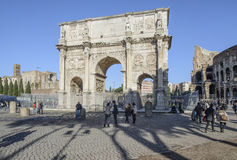 Arch of constantine rome italy europe. View of the 'arch of constantine in rome Royalty Free Stock Photography