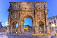 Arch of Constantine in Rome, Italy, HDR. Arch of Constantine by night in Rome, Italy, HDR Stock Photos