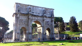 Arch of Constantine Rome Italy stock video footage