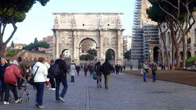 Arch of Constantine, Rome, Italy stock footage