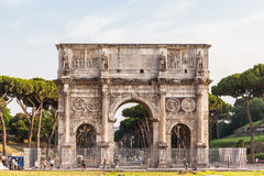 Arch of Constantine. Rome, Italy - July 14, 2013 - Arch of Constantine near colosseum in Rome, Italy Stock Photos